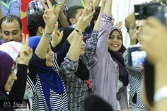 Coworking in Gaza - 50% women.  Awesome.