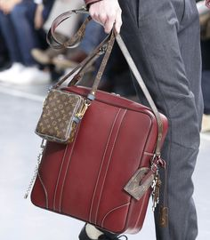 Check out Louis Vuitton's Fall 2015 men's bags, featured lots of monogram canvas.
