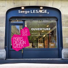 PARIS DESIGN WEEK 15  SHOWROOM LESAGE 90, boulevard Raspail, 75006 Paris