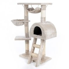 Happypet® CAT018-2 Kratzbaum Katzenbaum mittelhoch 1,00 hoch Beige: Amazon.de…
