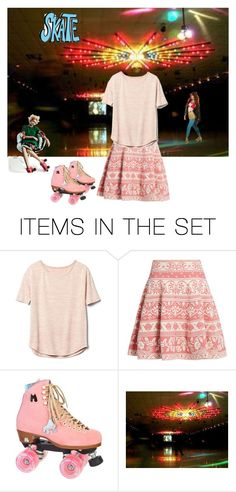 """Skate Night"" by chauert ❤ liked on Polyvore featuring art"