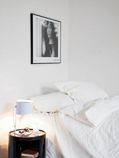 Art in the Bedroom | Black and White Photography | Art Collection | White Bed