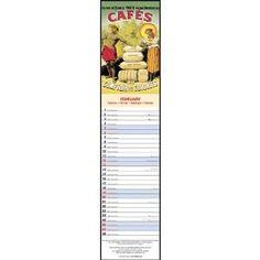 Coffee Vintage Advertising Posters Slimline Vertical Wall Calendar