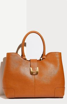 Fendi 'Chameleon' Calfskin Leather Shopper