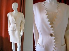Vintage 1970s 1980s Bill Blass Designer Dress Set Strapless Dress and Saw Tooth Edged Jacket  https://www.etsy.com/listing/99416324/vintage-1970s-1980s-bill-blass-designer?ref=v1_other_2