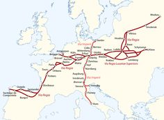 """In medieval Europe, there were two main """"royal highways"""" – Via Regia and Via Imperii – these were designated routes in the Holy Roman Empire that afforded protection to travelers in return for tolls collected for the emperor, who had the duty to maintain the roads."""