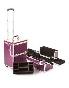 Purple Crocodile Makeup Trolley | Hairdressing Trolley | Urbanity