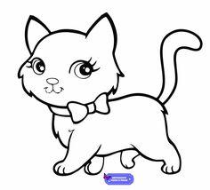 Des Modèles Des Gabarits Des Dessins De Chats à Imprimer Cats