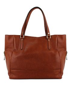 Take a look at this Russet Brown Leigh Tote on zulily today!