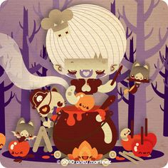 Candy Apples - www.theydrawandcook.com by Aneu Martinez, via Behance