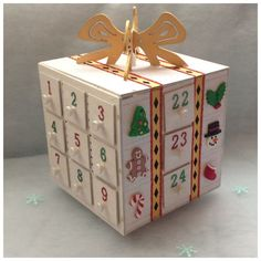 Light up colour changing wooden advent calendar - The Supermums Craft Fair