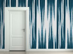 Part of our new Stone Textile for Blackcrow Studios wallpaper collection Teal abstract design with ...