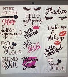 Merchandise Glittered Make-up Brush Holder-Make-up Organizer-Make-up Brush Holder-Glitter Cup-Custom