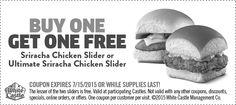 White Castle #Bogo #coupon