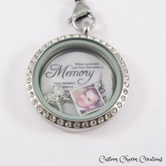 "New ""When someone you love becomes a memory, that memory becomes a treasure"" Floating Charm & Plate for 30 mm Lockets  @shosterman  @beck75pa  @crissschickley"