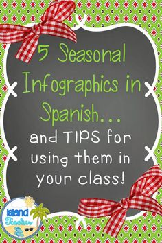 5 Spanish Infographics for the holiday season!