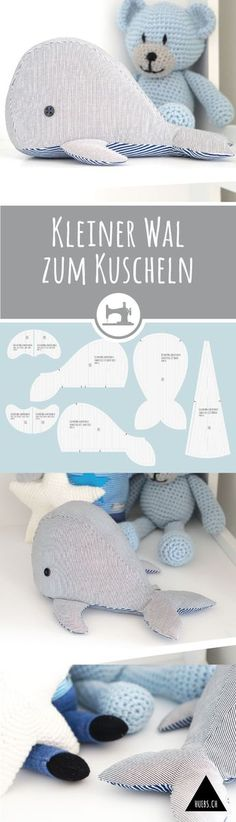 Free whale sewing pattern