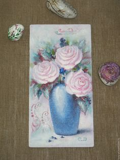 """""""Marshmallow"""" roses - canvas, oil - shebby. Купить """"Зефирные"""" розы -  картина маслом в состаренной раме - шебби шик    #art, #fantasy, #paintings, #white, #flowers, #oil, #stilllife, #bouquet, #shebby, #roses, #mint, #pink, #картина, #картинамаслом, #букет, #цветы, #белый, #нежность, #натюрморт, #розы, #украшениедома, #масло,  #шеббишик, #шебби, #шебби-шик, #мятный, #розовый, Купить """"Зефирные"""" розы -  картина маслом в состаренной раме - шебби шик - мятный, розовый, белый"""