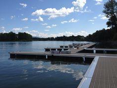 La marina à l'Hôtel Trois Tilleuls Spa, Restaurant, River, Outdoor, Finnish Sauna, Lime Trees, Terrace, Outdoors, Restaurants