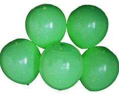 "Custom, Fun & Cool {Big Large Size 12"" Inch} 5 Pack of Helium & Air Inflatable Latex Rubber Balloons w/ Traditional LED Design [Light Green Color] mySimple Products"