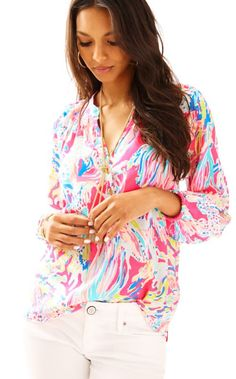 37f7647be86 Get ready for a style epiphany: this silk blouse is the secret workhorse of  your. Lilly Pulitzer
