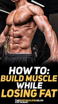 Learn how you can build muscle mass while losing body fat, yes it is possible, it's just a matter of some fitness know-how! #fitness #gym #exercise #workout #fit #fitfam #fitnesstips