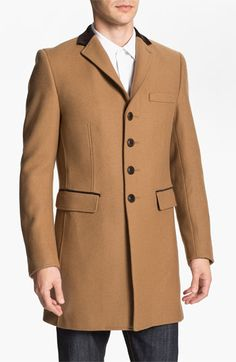 PLECTRUM by Ben Sherman Melton Crombie Topcoat available at #Nordstrom