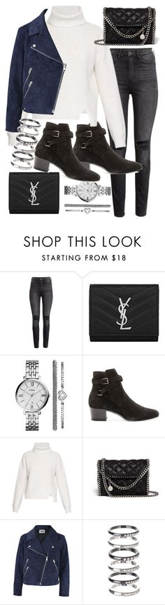 """Untitled #19383"" by florencia95 ❤ liked on Polyvore featuring H&M, Yves Saint Laurent, FOSSIL, Proenza Schouler, STELLA McCARTNEY, Acne Studios and M.N.G"