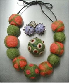 needle felted jewelry | ... Appleton WI - Beading and Jewelry making classes for all skill levels