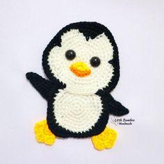 Crochet Penguin, Crochet Birds, Crochet Patterns Amigurumi, Crochet Animals, Crochet Dolls, Crochet Yarn, Crochet Applique Patterns Free, Crochet Motifs, Crochet Blanket Patterns