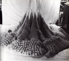 Here's another male crochet designer from the 1970s. His work was featured in both of the books by Del Pitt Feldman written at this time. One of his textile sculptures is shown above.