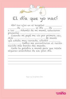 el día que nací                                                       … Bebe Baby, My Baby Girl, Mom And Baby, Pregnancy Scrapbook, Baby Scrapbook, Baby Showers, Baby Shower Parties, Die A, Baby Diary