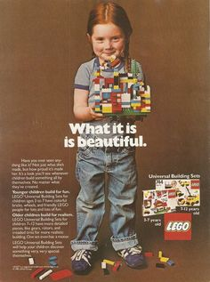 Lego, you had it right the first time. THIS is how to advertise your product to the parents of girls.