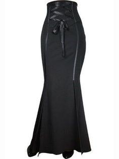 Corseted Long Fishtail Skirt