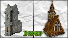 Minecraft: How To Transform A Village | Tutorial | Medieval Church Tutorial