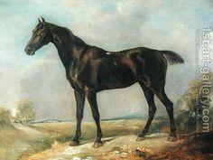 Golding Constable's Black Riding-Horse, c.1805-10 by John Constable