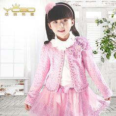 Одежда чистой проповеди фирменную детскую одежду девочек костюм весна и осень кружева Принцесса платье с длинным рукавом из трех частей девочка платье