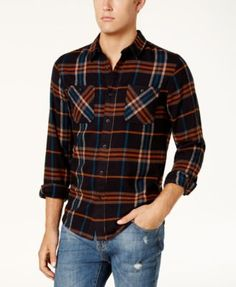 Size M. American Rag Men's Kendrick Flannel Shirt, Created for Macy's