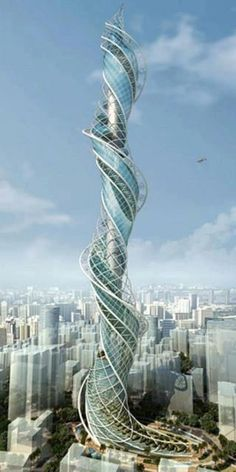 James Law cybertecture concept for Wadala Tower in Mumbai. The project was cancelled.