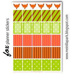MeinLilaPark: Free printable fox planner stickers - ausdruckbare...