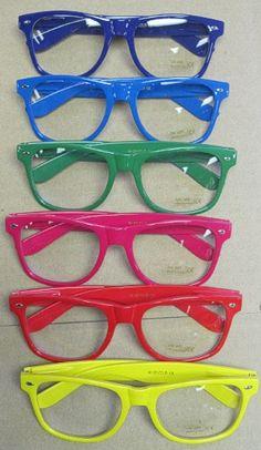 nerdy glasses | Halloween Store Neon Nerd Glasses- different colors!