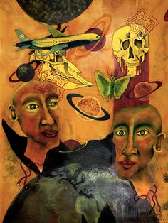 Bombolo, Planet Hoffnung, Öl auf Leinwand, 200 x 150 cm, 2007, 9.000 €