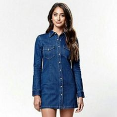 13b5f4061df4 Favoire is the coolest way to add purpose to your purchases. We love this  denim dress from the Kendall and Kylie collection