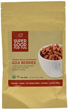 Good For You Foods Organic Raw Goji Berries >>> Read more  at the image link.Note:It is affiliate link to Amazon.