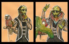 LOL, this is WONDERFUL. Now I'm sad this never happened in game since apparently it's in the codex Drell can do this? Awesome. #MassEffect #ThaneKrios
