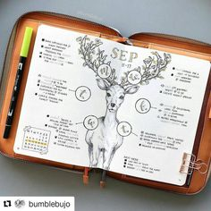 "3,515 Likes, 24 Comments - Bullet Journal Inspire (@bujoinspire) on Instagram: ""#Repost @bumblebujo (@get_repost) ・・・ Another completed spread from September. When I first created…"""