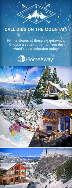 We've got the perfect ski destination home for you no matter where you are traveling this ski season! Book Now! Ski Vacation, Vacation Spots, Holiday Destinations, Vacation Destinations, Vacations, Places To Travel, Places To Go, Best Ski Resorts, Ski Season