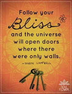 Soul Flower #campbell #quote #bliss