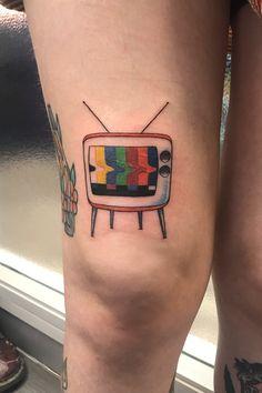 Retro TV Tattoo Tv Tattoo, Tattoos, Tattoo Artists, Retro, Tatuajes, Tattoo, Retro Illustration, Tattos, Tattoo Designs