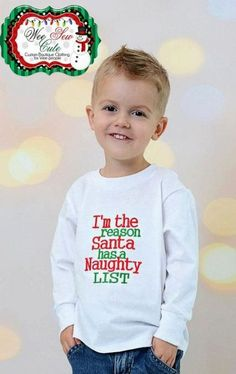 Create the unique shirts to fit for your kid's unique style. - Funny Kids Shirts - Ideas of Funny Kids Shirts - Create the unique shirts to fit for your kid's unique style. Christmas Shirts For Kids, Christmas Vinyl, Xmas Shirts, Funny Christmas Shirts, Christmas Humor, Kids Christmas, Christmas Outfits, Christmas Monogram Shirt, Xmas Pjs